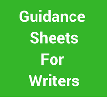 Guidance Sheets for Writers